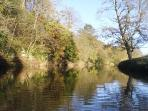 The River Esk at the bottom of our garden, where you can fish for Salmon and Trout