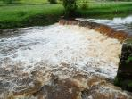 The weir on the River Esk in full force!