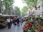 La Rambla 5 min from apartment