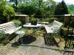 The top terrace, a great sun trap where you can have breakfast in the summer