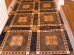 Ancient tiles in The SCRIPTORIUM Retreat
