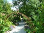 Stroll through owners 2 acre garden along Riverside walk