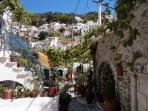 Martinas Taverna in Koronos village. Her hospitality and food is renowned in Naxos