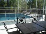 Lanai & pool including removable safety pool fence