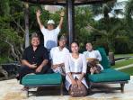 The staff of villa Bunga Melati