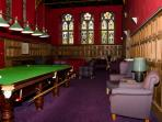 The Highland Club Lounge with full-sized snooker table