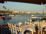 One of the many restaurants at Paphos harbour