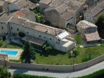 Aerial view of Le Mas des Bignones
