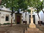 Plaza of Santa Marta with it's famous Cross. Living room and both bedrooms have excellent views