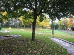 Tennis, mini-golf in the public park