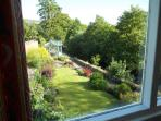 Garden view from one of the bedrooms on the first floor