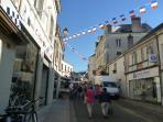 Market entrance in Bourgueil - Tuesdays & Saturdays