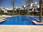 BEAUTIFUL POOL RIGHT OPPOSITE APARTMENT HAS JACUZZI & LARGE GARDEN SURROUNDING IT