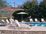 Sunbathing at the pool