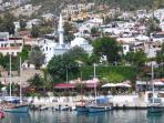 Charming Kalkan - the old town centre with harbour side cafes/restaurants and mosque