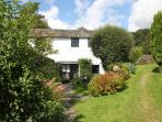 Robin has a small secluded garden with attractive shrubs