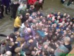 Shrovetide 'Hug' - You are welcome to join in, are you an Up'ard or a Down'ard?