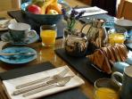 Enjoy a leisurely breakfast before heading out on your holiday adventures
