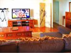 Media Room with Comfy Sofa Bed