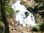 Swim under Waterfalls at Cedar Creek Rock Pools