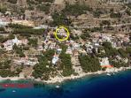 House - location in Marusici from the air