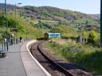 Morfa Mawddach Station on the scenic Cambrian Line is150 metres from our front gate..