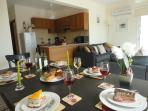 Large dining/lounge area & well equipped kitchen