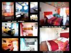 Dormitorio y cuarto de ducha de los cottages extudio