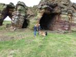 Caves on the costal walk from Crail to Anstruther