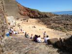 Beach at East of Crail Harbour
