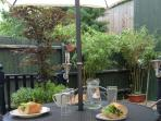 The courtyard garden is great for al fresco dining