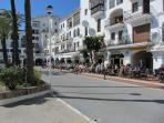 Enjoying the sun at La Duquesa Marina 15 mins walk from the apartment or 5 mins in the car