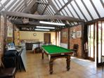 Games room with snooker and table tennis