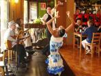 Entertainment in the popular Jamon Jamon restaurant of Playa San Juan