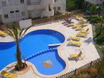 The pool has plenty of sun loungers for the exclusive use of residents.