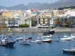 The peaceful port of Playa San Juan