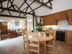 The spacious open plan accommodation in The Old Stables