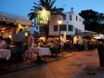 A wonderful, relaxed atmosphere in the many restaurants and bars of Cala D'or centre.