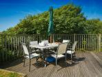 Large barbecue and patio furniture for alfresco dining