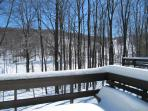 Views from the back deck of Lake George and the slopes