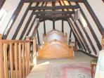 Top floor bedroom with ensuite and king size bed
