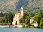 Church In Tremezzo from the Lake
