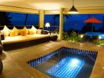 View of the Jacuzzi in the tropical-style living area