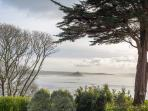 Seaviews to Mounts' Bay and St Michael's Mount, photo taken in winter