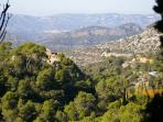 View from the old mountain-top monastery at Cardo ( 9 kilometres )