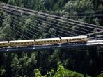 Little Yellow Train, climbs 1593m to the high Pyrenees, 19 tunnels, 2 bridges, a family day out