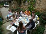 Dining 'al fresco' in the 'Secret Garden'
