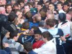 Ashbourne's famous Shrovetide Football match held every Shrove Tuesday and Ash Wednesday