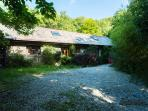 House in wooded valley listen to the sounds of the river
