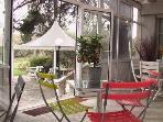 Le Jardin Secret B&B, a view from the veranda